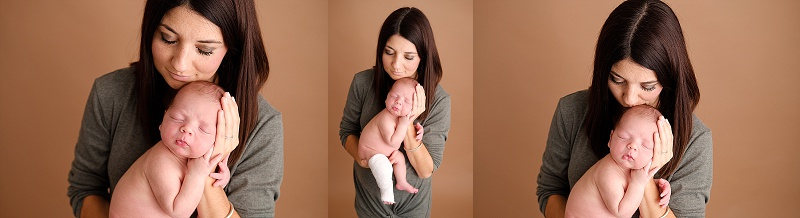 Macomb Newborn Photographer newborn boy with Mom
