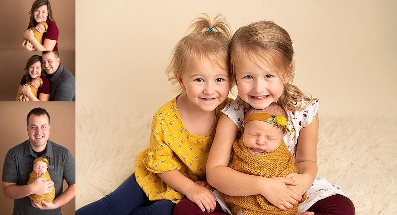 macomb newborn session family photos