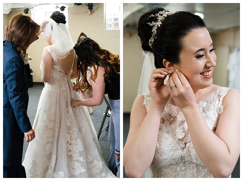 wedding photos of bride getting ready