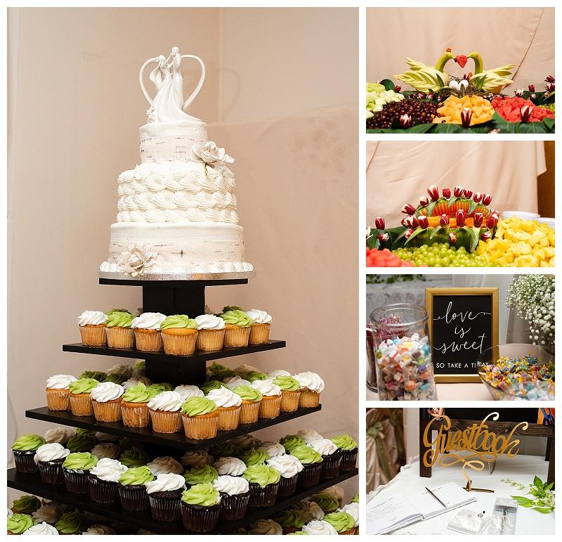wedding food detail photos