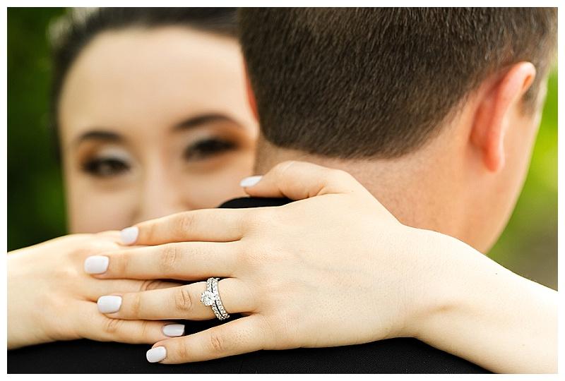 wedding photo focused on wedding ring