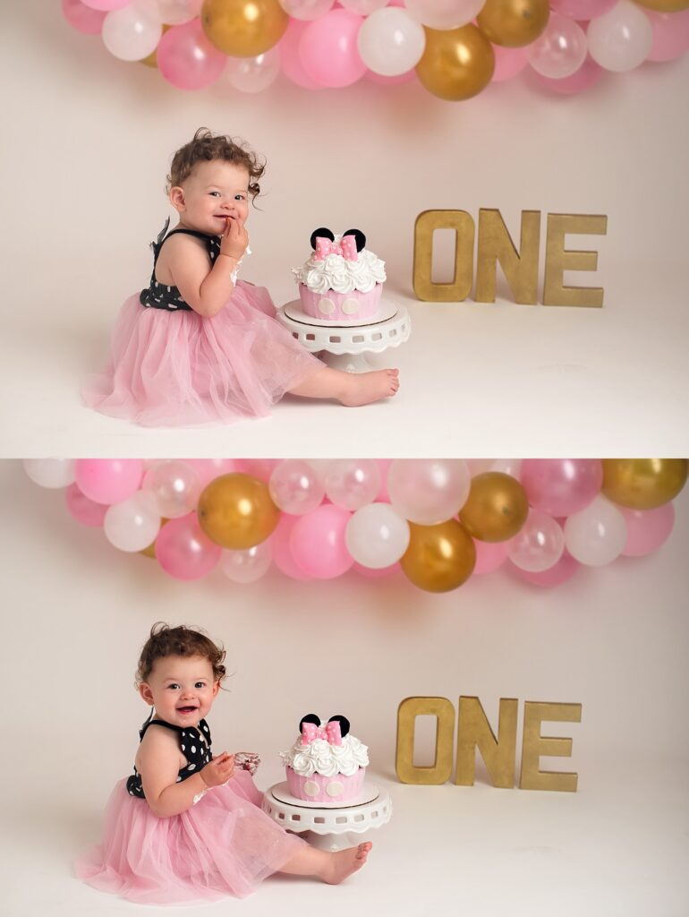 minnie cake smash session