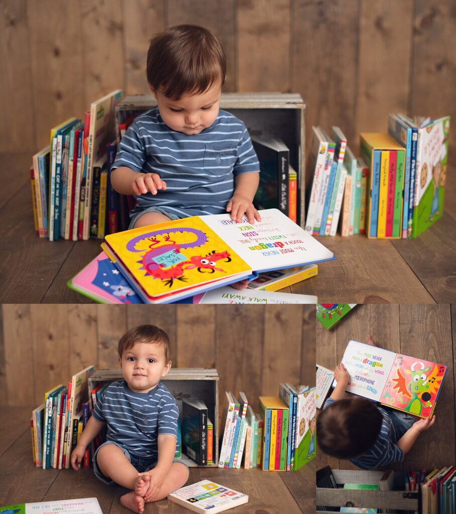 boy reading favorite books