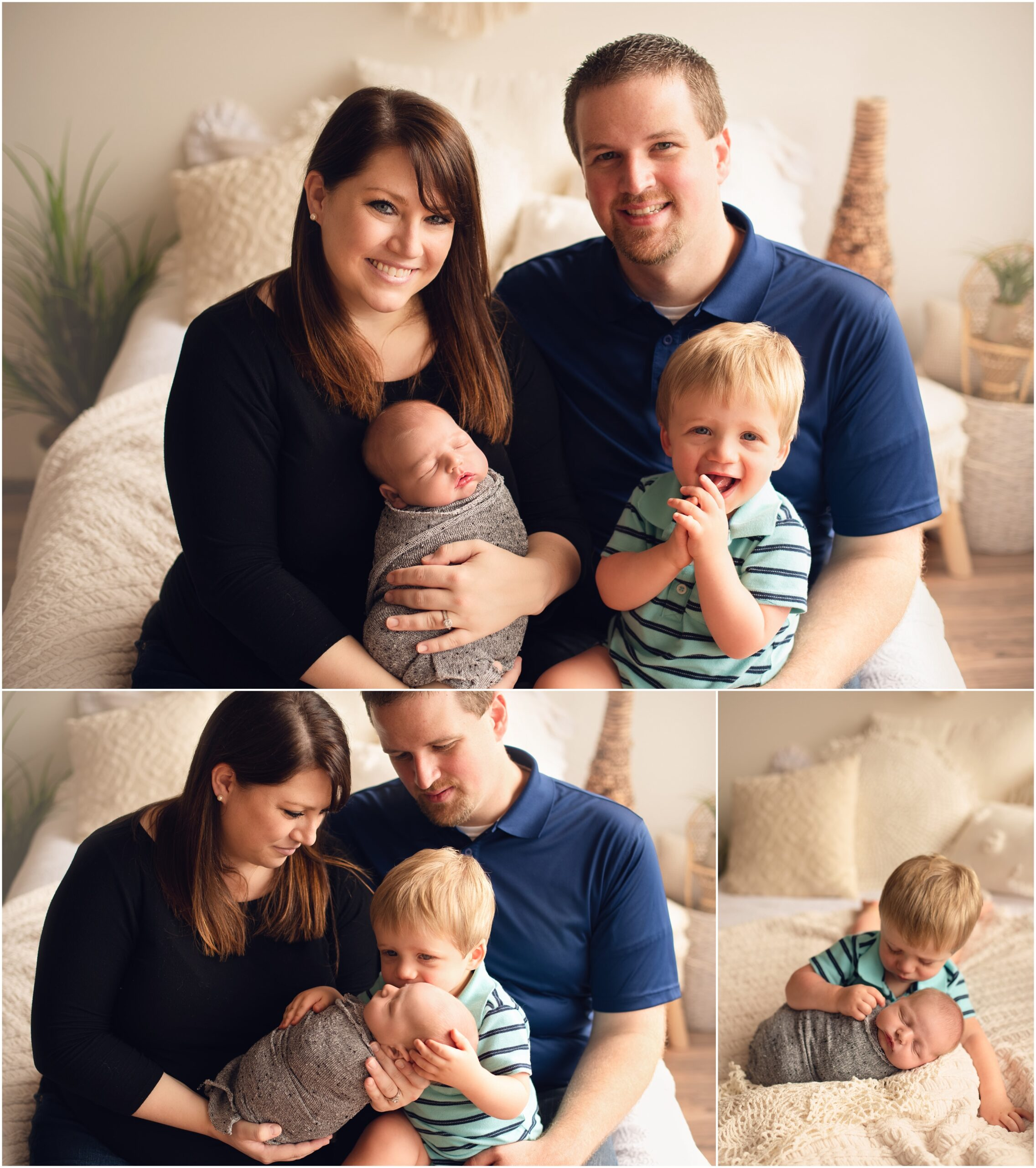 Lifestyle family photos from newborn session