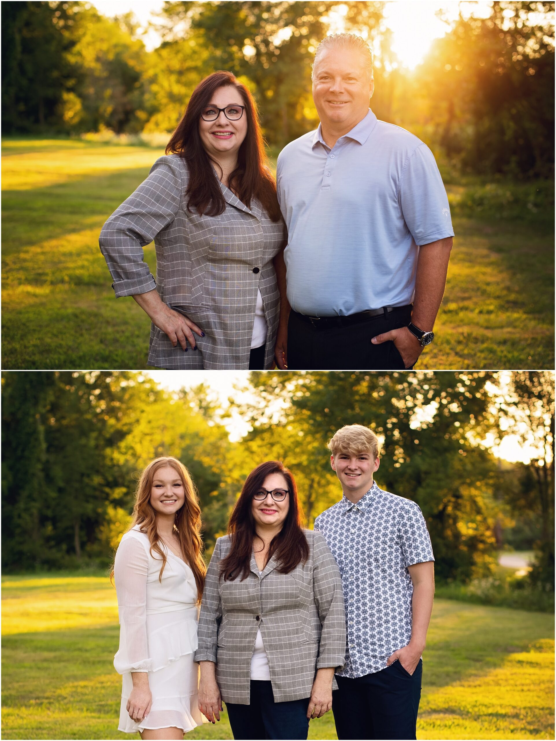 adult siblings, aunt with niece and nephew