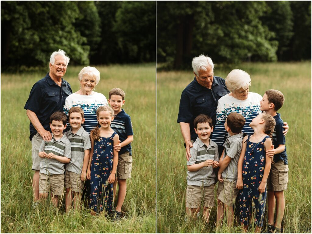 Great grandparents with their great grandkids