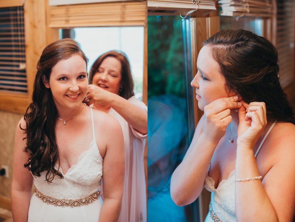 bride getting ready on big day