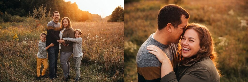 stoney creek family session during sunset