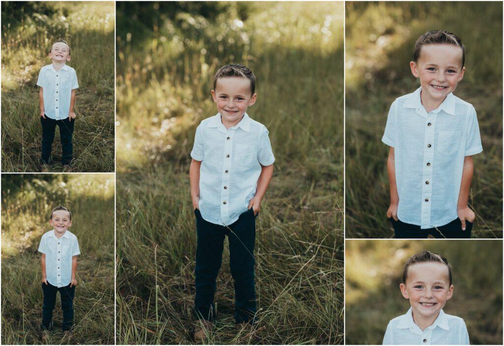 boy in white button up